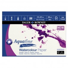 "Aquafine Cold Pressed (NOT) Watercolour Paper Gummed Pads - A4/A3/20""x16"""
