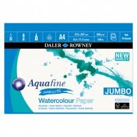 """Aquafine Hot Pressed Watercolour Paper Gummed Pads - A4/A3/20""""x16"""""""
