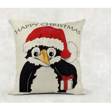 Christmas Penguin - Cushion