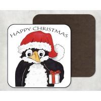 Artisan Coaster - Christmas Penguin