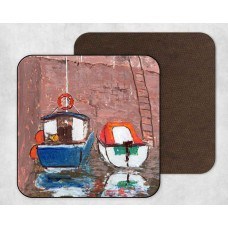 Boats At Harbour - Set Of 4 Coasters