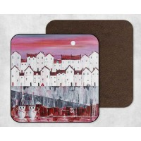 Red Roofs - Set Of 4 Coasters