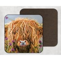 Highland Cow - Set of 4 Coasters