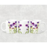 Artisan Mug - Purple Flowers