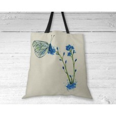 Blue Butterfly - Tote Bag