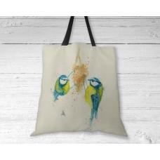 Eurasian Blue Tits - Tote Bag