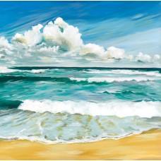 Rolling Aqua Sea - Art Print