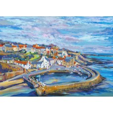 Crail Harbour In Autumn - Art Print