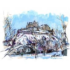 Edinburgh In Winter - Art Print