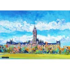 Glasgow University - Art Print