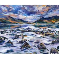 Glencoe Village From Loch Leven - Art Print