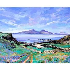Isle Of Rum From Muck - Art Print
