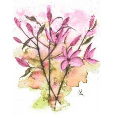 Pink Lilies - Art Print