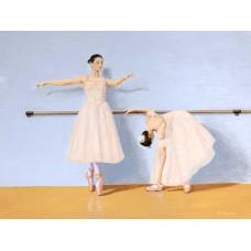Stretching The Barre - Art Print