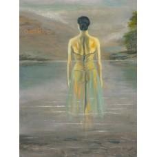 Lady In The Loch - Art Print