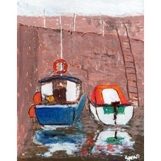 Boats At Harbour - Art Print