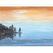 Reflections At Sunset - Art Print