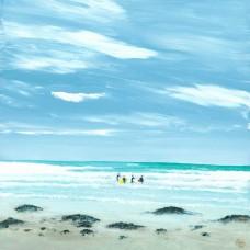 Dunbar Surfers - Art Print