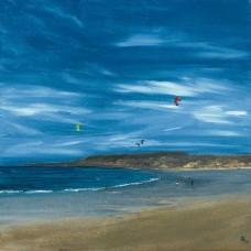 East Lothian Kite Surfing - Art Print