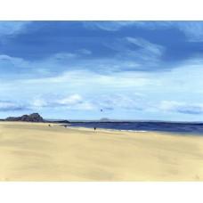 Yellowcraig Beach, North Berwick - Art Print