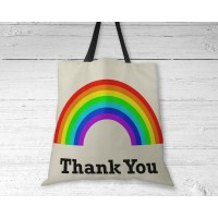 Rainbow Thank You - Tote Bag