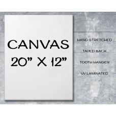 "Canvas Print 20"" x 12"""