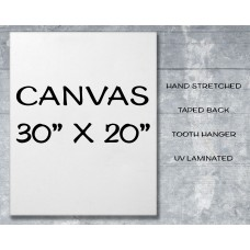 "Canvas Print 30"" x 20"""