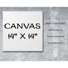 "Canvas Print 14"" x 14"""