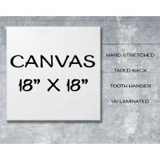 "Canvas Print 18"" x 18"""