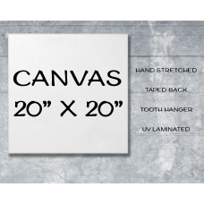 "Canvas Print 20"" x 20"""