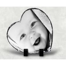 """Photo Slate Print - Heart 6"""" x 6"""""""
