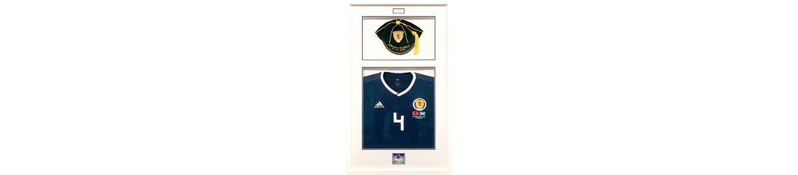 framed scotland cap