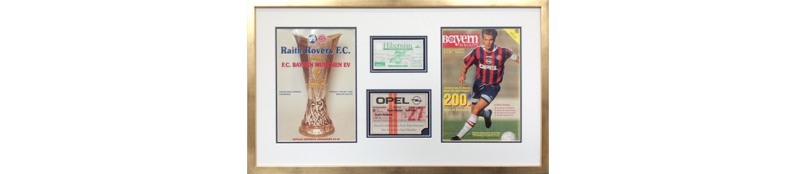 framed football programmes