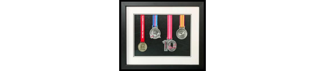framed running medals