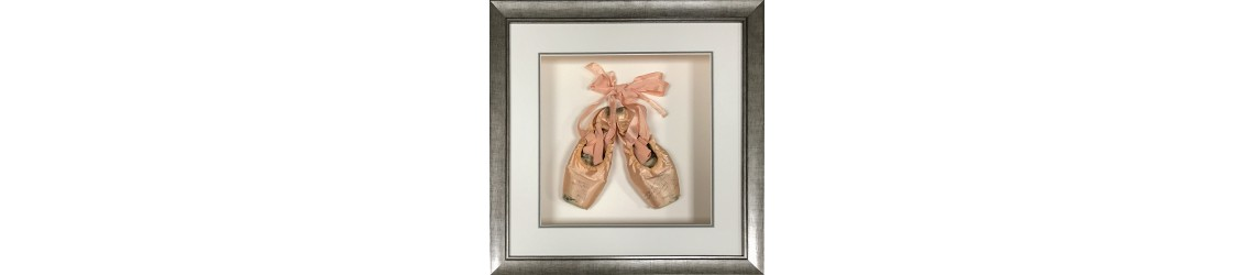 framed ballet shoes