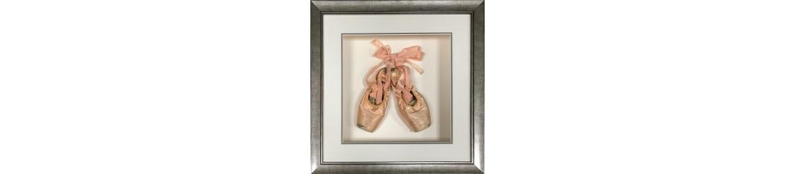 framed ballet shoes