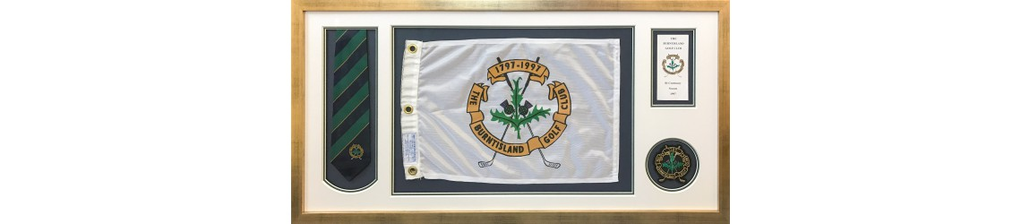 framed golf memorabilia