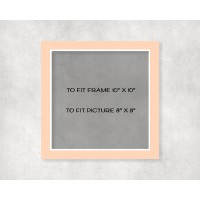 """White Core Mount 10"""" x 10"""" to fit 8"""" x 8"""" picture - pack of 5"""