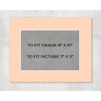 """White Core Mount 8"""" x 10"""" to fit 7"""" x 5"""" picture - pack of 5"""