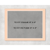 """White Core Mount 8"""" x 6"""" to fit 6"""" x 4"""" picture - pack of 5"""
