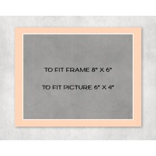 """Economy Picture Mount 8"""" x 6"""" to fit 6"""" x 4"""" picture - pack of 5"""