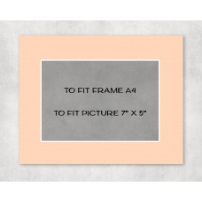 "White Core Mount A4 to fit 7"" x 5"" picture - pack of 5"