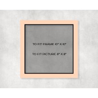 """Black Core Mount 10"""" x 10"""" to fit 8"""" x 8"""" picture - pack of 5"""