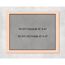 "Black Core Mount 8"" x 6"" to fit 6"" x 4"" picture - pack of 5"