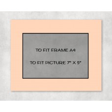 "Black Core Mount A4 to fit 7"" x 5"" picture - pack of 5"