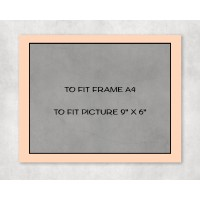 """Black Core Mount A4 to fit 9"""" x 6"""" picture - pack of 5"""