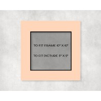 """Black Core Mount 10"""" x 10"""" to fit 5"""" x 5"""" picture - pack of 5"""