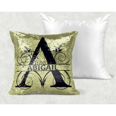 Personalised Cushion - Gold Sequin Reveal Name