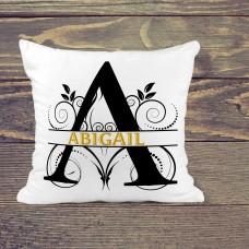 Personalised Cushion - name on white