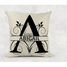 Personalised Cushion - name on linen